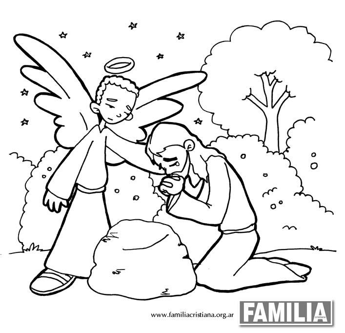 dibujos para colorear la oracion en el huerto
