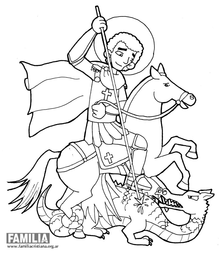 Dibujo Para Colorear De San Miguel Arcangel