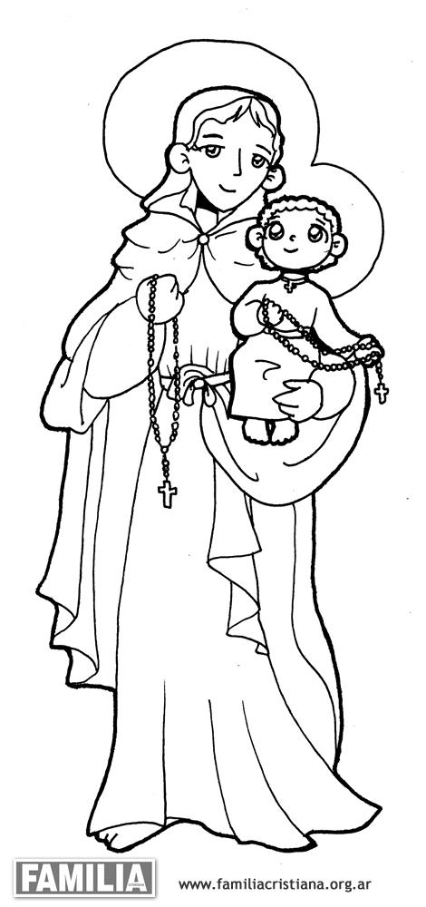 La virgen del rosario - dibujo - Imagui
